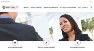 web masempleoett diseño web