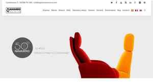 web tapicerias navarro posicionamiento web